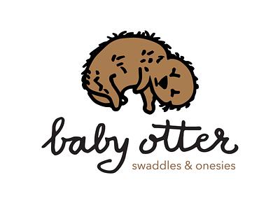Baby Otter identity branding lettering illustration typography logo