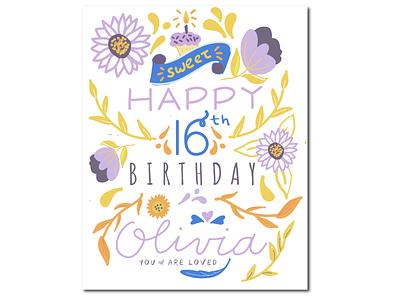 Birthday Card illustration digital illustration design illustration procreate