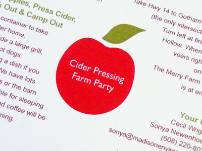 Cider Party Invitation