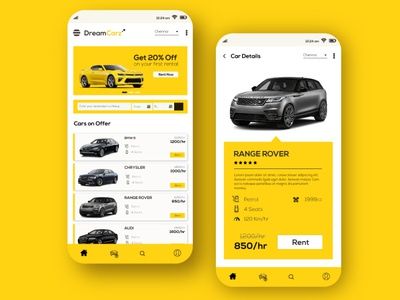 Dreamcarz Mobile UI