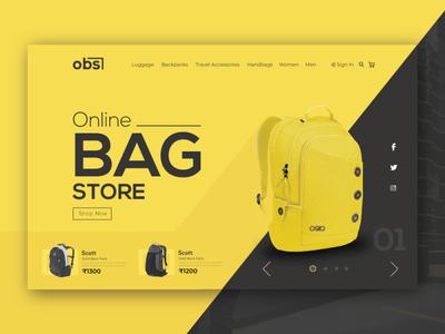 Online Bag Store UI