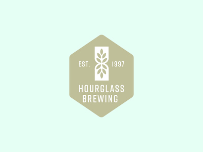 Hourglass Brewing Logo icon beer brewing brewery identity logo branding