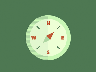 Flat Compass Icon two tone icon design flat icon green blue explore camping adventure compass icon flat