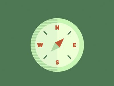 Flat Compass Icon
