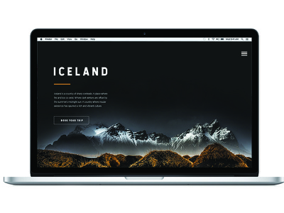 Destination Web Design web design navigation nav typography button iceland mountain mountains website web