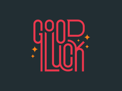 Good Luck Lettering modern flat illustration flat luck lucky calligraphy hand lettering type typography lettering