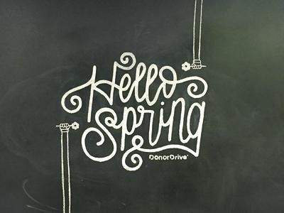 Hand-Lettered Chalkboard Mural
