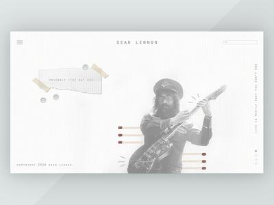 Sean Lennon Landing Page
