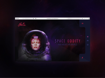 Bowie Landing Page music sci-go space ux ui modern gradient website landing page web