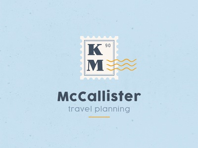 McCallister's Travel Planning Logo vacation winter holiday christmas vintage modern icon type illustration typography logo