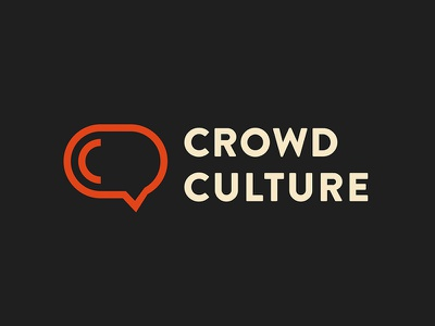 Crowd Culture Blog Logo letter c bubble comment symbol sign mark branding lettering simple vector modern icon logo
