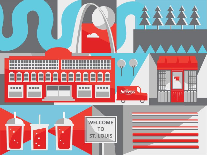 Trade Show Graphic brand graphic st. louis arch warehouse st. louis slurpee