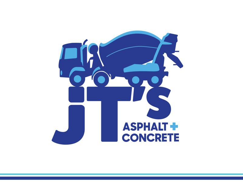 JT's Asphalt + Concrete Logo logotype construction logo industrial
