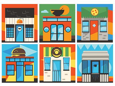Restaurants vector illustration flat illustration restaurant pizza