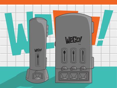 WeGo Brand Graphic (Side Light) branding vendingmachine restaurant