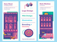 Vertical Moo Mini Cards target moo cards creative agency brand design dice building business card