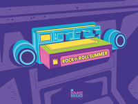 Have A Rock n' Roll Summer! 1970s vintage tech car radio 8 track