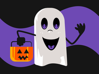Trick or Treat (I'm Ready!) happy halloween happy cartoon trick-or-treat halloween ghost