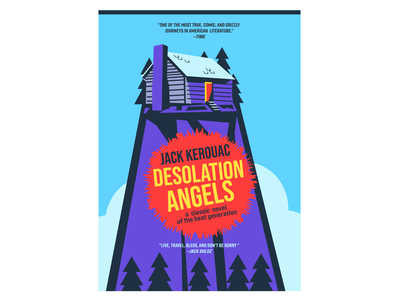 Desolation Angels (Revised) nature book art book cover beat generation jack kerouac