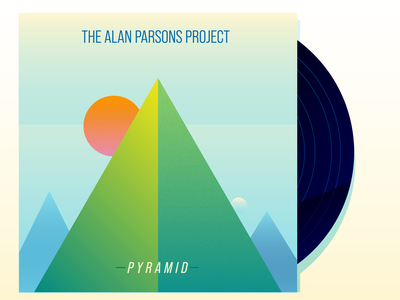 The Alan Parsons Project - Pyramid vinyl progressive rock record art album art