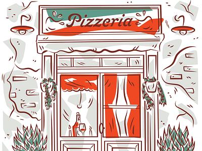 Pizzeria (art for a generic pizza box) restaurant pizza box restaurant supply package design packaging pizzeria pizza