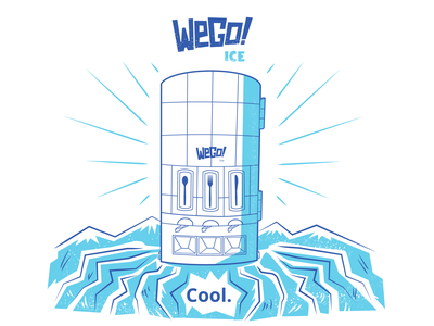 WeGo! Ice Brand Graphic mountains ice vending machine restaurant supply restaurant