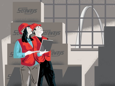 Straways Workers Brand Graphic boxes midwest st. louis workers manufacturing restaurant supply straws restaurant
