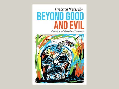 Beyond Good And Evil digital painting skulls philosophy philosopher cover art book cover