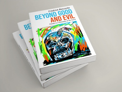 Beyond Good And Evil existentialism digital painting skulls philosophy philosopher cover art book cover