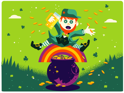 Get Lucky!!! crazy spring red hair lime green green shamrock pot of gold leprechaun st. patricks day