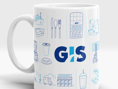 Global Import Solutions Coffee Mug merch design forklift hot cup restaurant supply utensils coffee mug