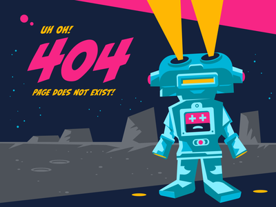 404 Page 404 error sci-fi space robot