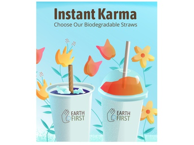 Instant Karma (full view) restaurant supply restaurant recycle biodegradable eco-friendly