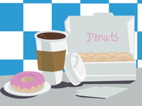 Donuts & Hot Coffee