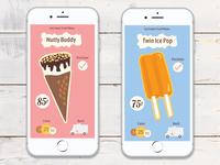 Ice Cream Truck Game Screens