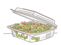 Clear To-Go Clamshell Container
