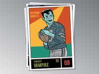 Vincent Vampire (Football Trading Card)