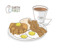 Short Stack, Eggs, Toast, Bacon & Hot Coffee
