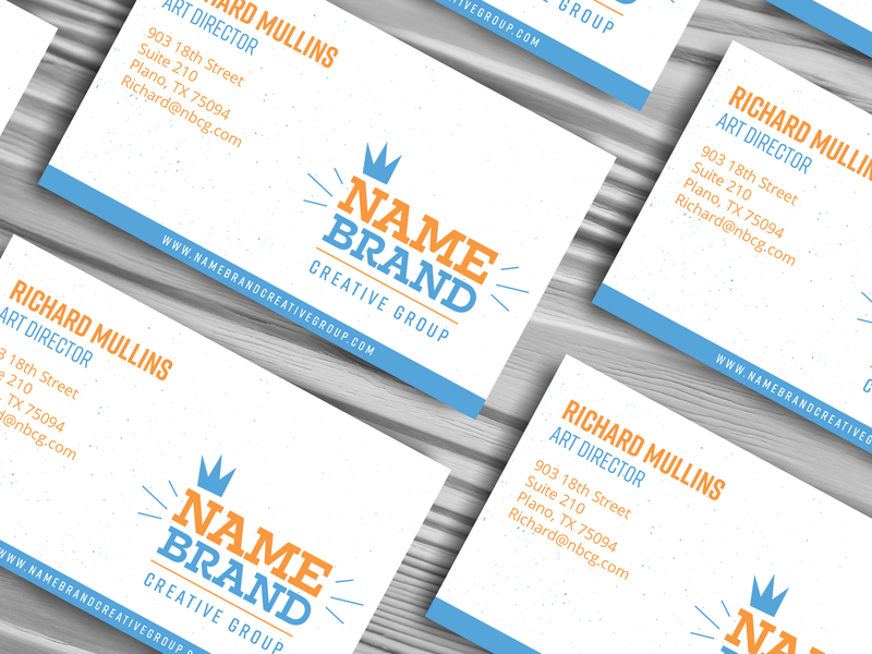 Name Brand Creative Group Business Card by Richard Mullins on Dribbble