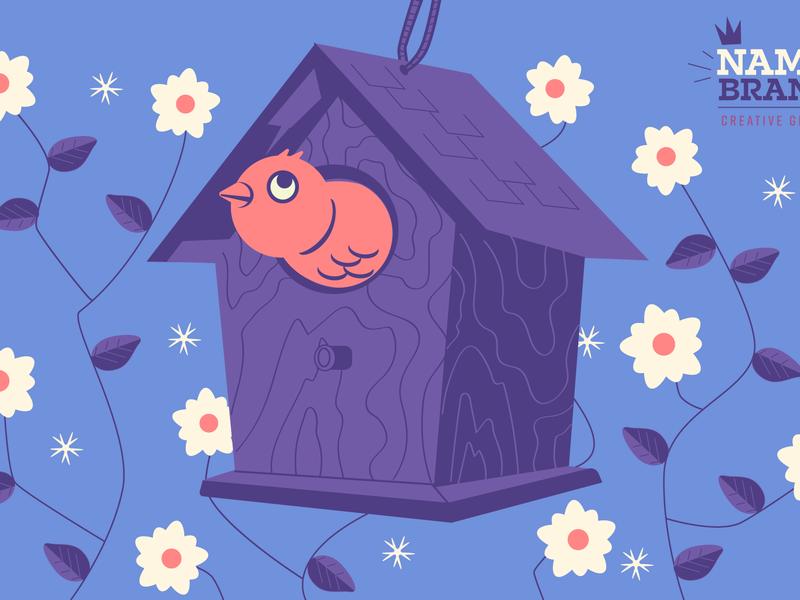 Hello Spring (Remix) floral birdhouse flowers spring baby bird bird