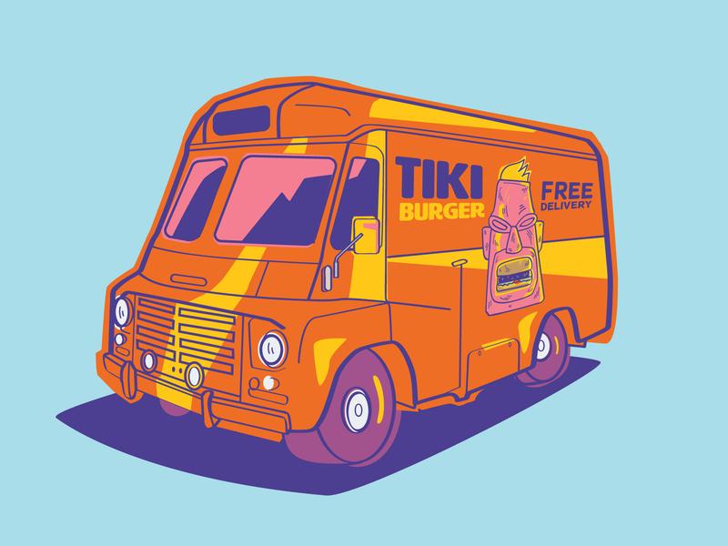 Tiki Burger Food Truck food truck burger tiki