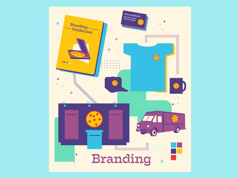Web Branding Tile creative agency business card branding t shirt