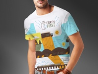 Earth First T Shirt