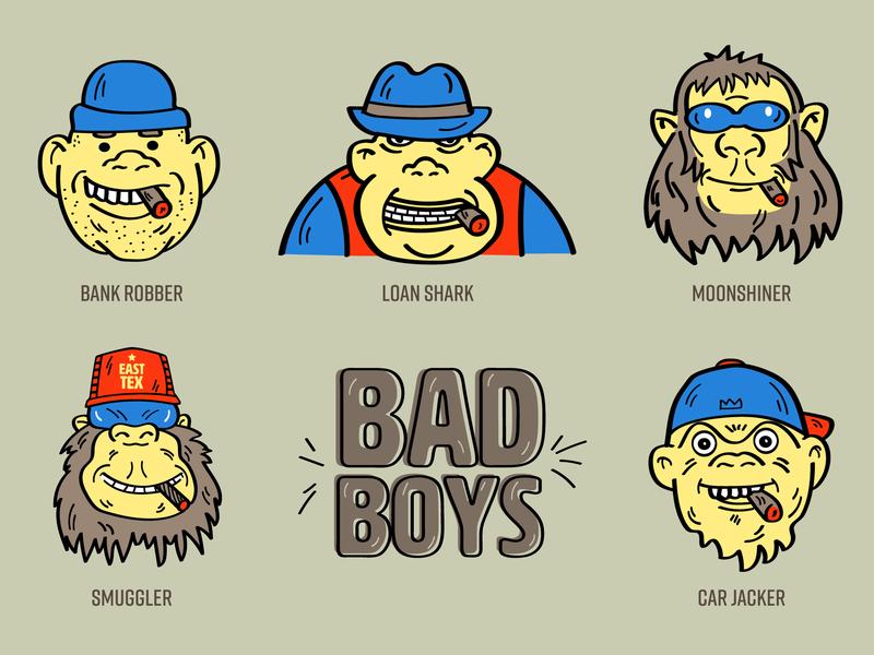 Bad Boys characterdesign character cartoon