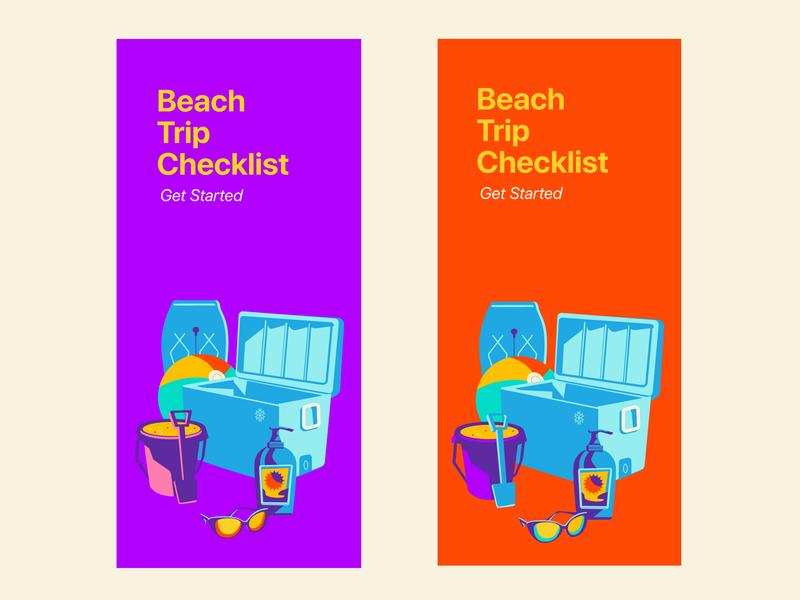 Welcome Screens (A/B Test) ab test beach ball mobile app uidesign user interface design beach