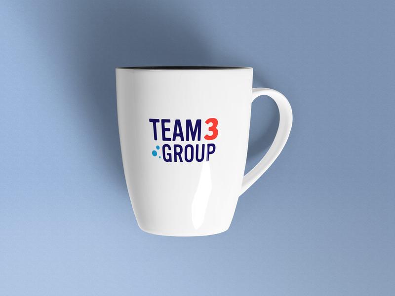 Coffee Cup (Team Three Group) mug coffee cup brand identity brand design logodesign