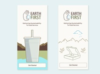 Welcome Screens for Earth First (A/B)