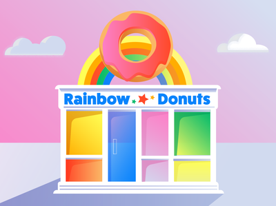 Rainbow Donuts (with Gradients)