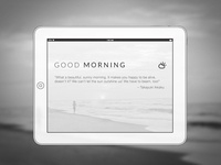 Clean & minimal yoga app wireframe [iPad]