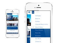 Real estate company mobile site